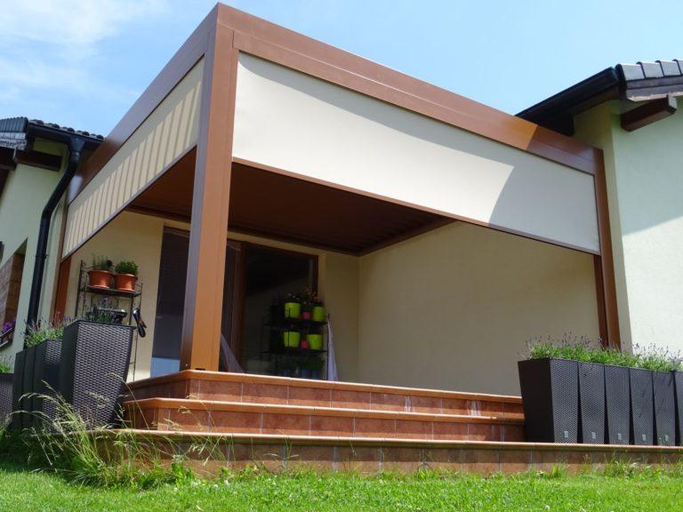 stavba drevena pergola milano